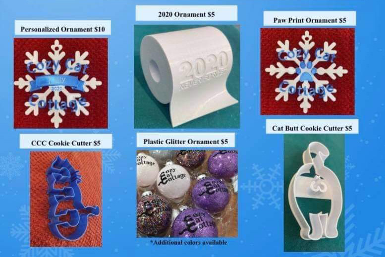 photo of ornaments and cookie cutters for sale